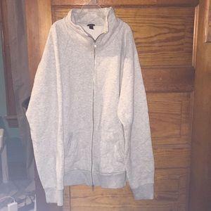 J.Crew Zipper Gray Sweatshirt sz XL